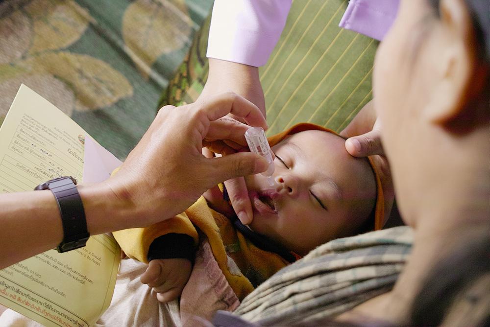 着分の衣類を再利用し、「ポリオワクチン」を寄付